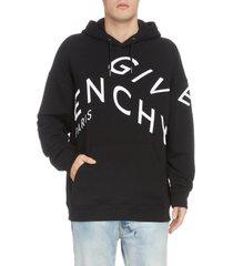 men's givenchy refracted hooded sweatshirt, size medium - black