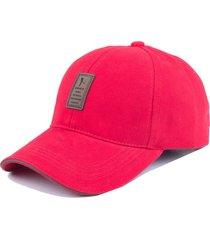 gorra golf ajustable # 2 - color rojo logo marron
