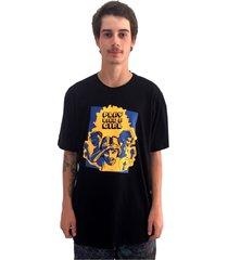 camiseta manga curta skate eterno gamer preta - kanui