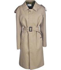 maison margiela single-breasted belted coat
