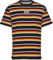 tjm yarn dye stripe tee t-shirts short-sleeved multi/mönstrad tommy jeans