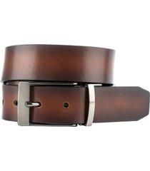 cinturón doble faz palmar de cuero para hombre