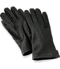 cashmere-lined deerskin glove, black, xl