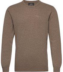 eco wool karsten stickad tröja m. rund krage brun mads nørgaard