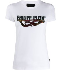philipp plein ss destroyed t-shirt - white