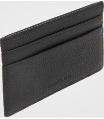 porta-cartão couro osklen logo preto