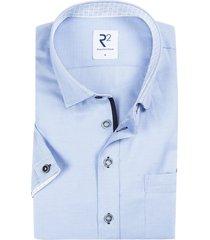 r2 shirt korte mouwen lichtblauw