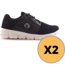 pack de  zapatillas kioshi kaminary negro