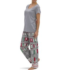 hue holiday in town modern classic pajama pants