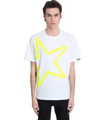 golden goose adamo t-shirt in white cotton
