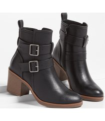 maurices womens annie double buckle ankle bootie