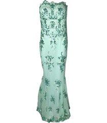 strapless corsage dress