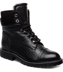 warm lining 7437 shoes boots ankle boots ankle boot - flat svart billi bi