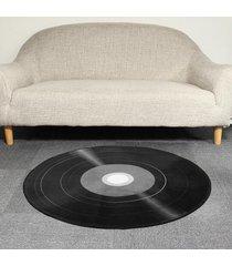 120cm 3d disco de vinilo impreso suave ronda de la estera del piso de la alfombra salón área dormitorio alfombra - 100cm