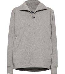 aatos sweatshirt knitwear half zip jumpers grå r-collection