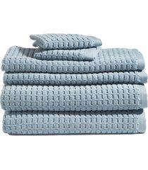 dkny 6-piece bath towel, hand towel & washcloth set in seafoam at nordstrom