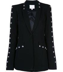 cinq a sept studded dive jacket - black