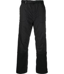 and wander padded nylon trousers - black