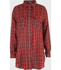 blusa missguided rojo - calce oversize
