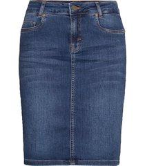 12 the denim skirt kort kjol blå denim hunter