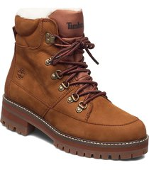 courmayeur hiker wp fur lined shoes boots ankle boots ankle boot - flat brun timberland