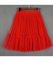 knee length pleated tulle skirt red polka dot tulle skirt bridesmaid party skirt