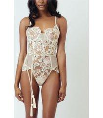 kilo brava embroidered underwire thong bodysuit