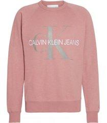 sweater vegetable monogram rosa calvin klein