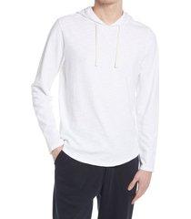 men's vince regular fit slub hoodie, size large r - white