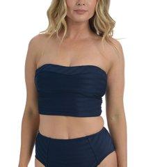 la blanca linea bandeau midkini swim top, size 16 in indigo at nordstrom