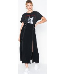 topshop splice button midi skirt midikjolar