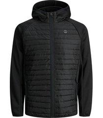 licht gewatteerde jas zwart