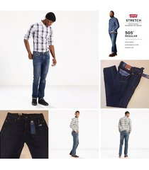 men's jeans-new w/tags levi 505 regular fit stretch jeans price reduced