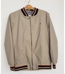 chaqueta bomber para hombre delascar - beige ch015