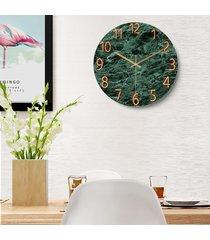 reloj de pared de 12 pulgadas de cristal de cuarzo silencioso universo espacio silencioso salón dormitorio - marble01