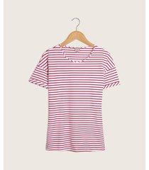 camiseta mujer manga corta rayas