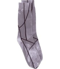 a-cold-wall* geometric print ankle socks - grey