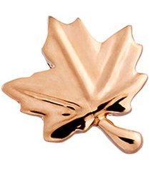 18k rose gold maple leaf charm - love