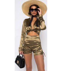 akira lola romper with front tie