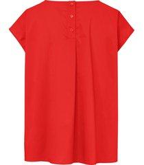 shirt met verbrede schouders en knoopsluiting van day.like rood