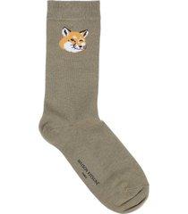 maison kitsuné short socks