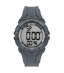 relógio digital mormaii masculino - mo18771ad8c cinza