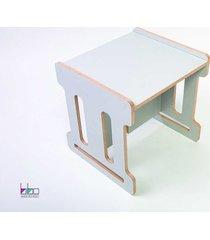 stolik dla dzieci qubik bibo mash mały szary