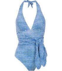 track & field bali swimsuit - blue