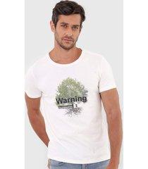 camiseta sergio k mc tree off-white