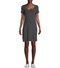 calvin klein women's striped mini dress - black white - size 12