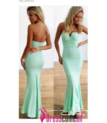 long prom/graduation dress,mint prom dresses,satin mermaid mint evening gown n16