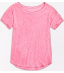 maurices womens 24/7 solid lunar drop shoulder classic tee pink