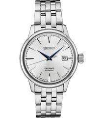seiko men's automatic presage stainless steel bracelet watch 40.5mm