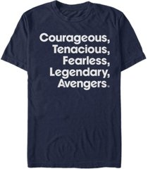 marvel men's avengers we are courageous and tenacious short sleeve t-shirt